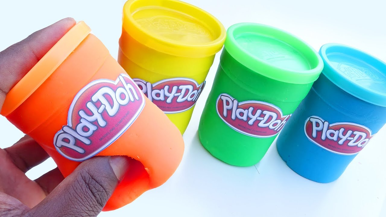 Play Doh Tubs Modelling Clay Learn Colors For Kids Play