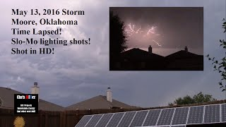 Time lapse supercell storm, lightning storm, cloud bursts shot in HD. (with slo-mo high def shots!)