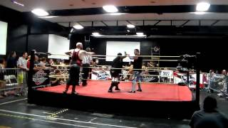 Elvis Aliaga & Brandon Espinosa & Danny Adams vs. Ricky Cruz & The Bum Rush Brothers