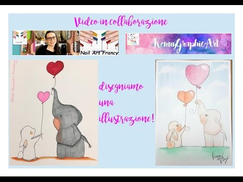 Video in collaborazione con Kenny Graphic Art, disegniamo una illustrazione! #1