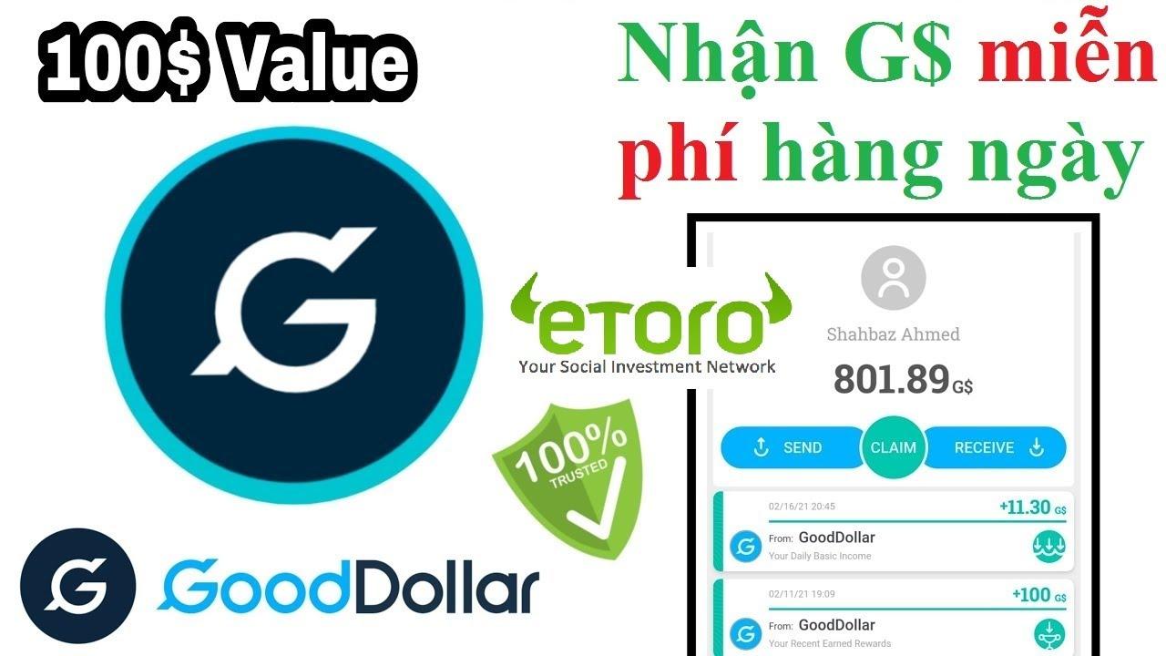 Kèo ngon – Airdrop Gooddollar – Nhận token G$ miễn phí hàng ngày + 50 G$ chào mừng đăng ký mới