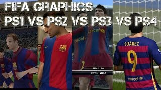 FIFA Evolution PS1 vs PS2 vs PS3 vs PS4