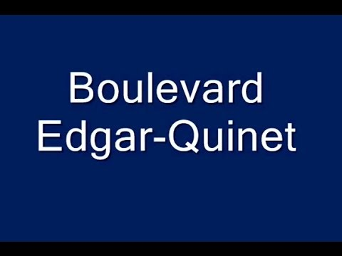 Boulevard Edgar Quine Paris Arrondissement 14e