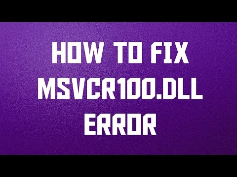 How To Fix Msvcr100.dll Missing Error On Windows 10/8.1/8/7