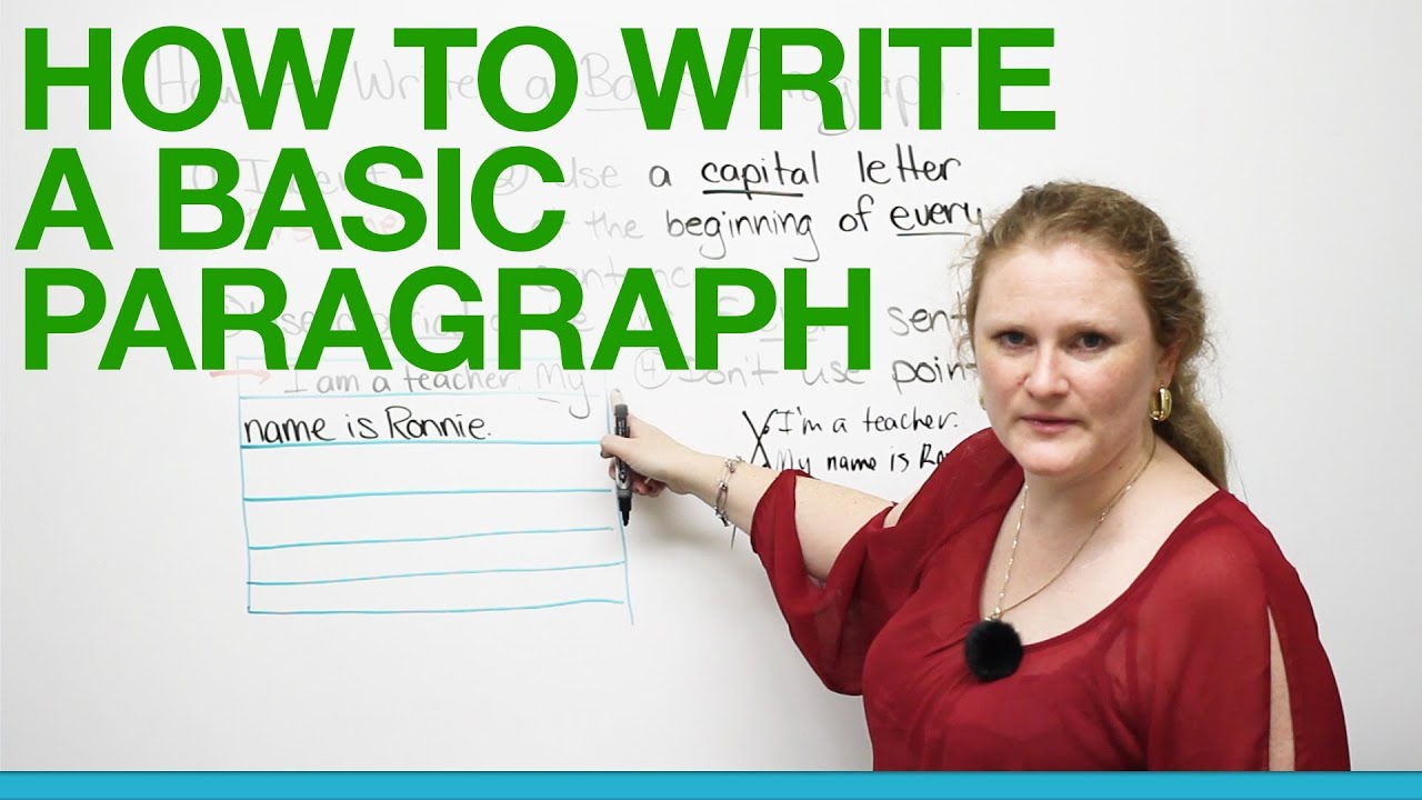 How To Write A Basic Paragraph  Youtube