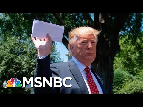 President Donald Trump Waves Around Paper Of What He Says Is Mexico Deal | Velshi & Ruhle | MSNBC