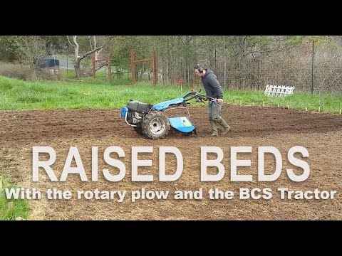 Using The BCS Walk Behind Tractor To Establish Garden Beds In A Field Of Quackgrass