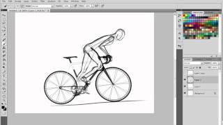 How to draw people riding bikes
