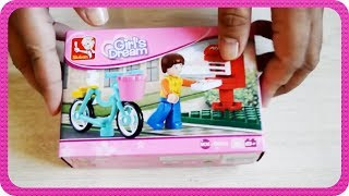 sluban girl s dream of a bike messenger m38 b0516 unboxing and building