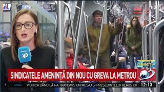 Sindicatele ameninţă din nou cu greva la metrou
