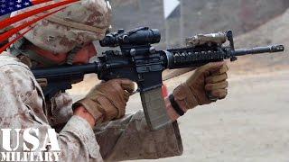 M4カービン & ベレッタM9 射撃訓練 アメリカ海兵隊 [HD]