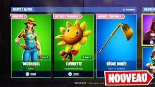 "NEW SKINS ""RUSTAUD"" - ""TOURNESOL"" - SAC A DOS (Fortnite Battle Royale)"