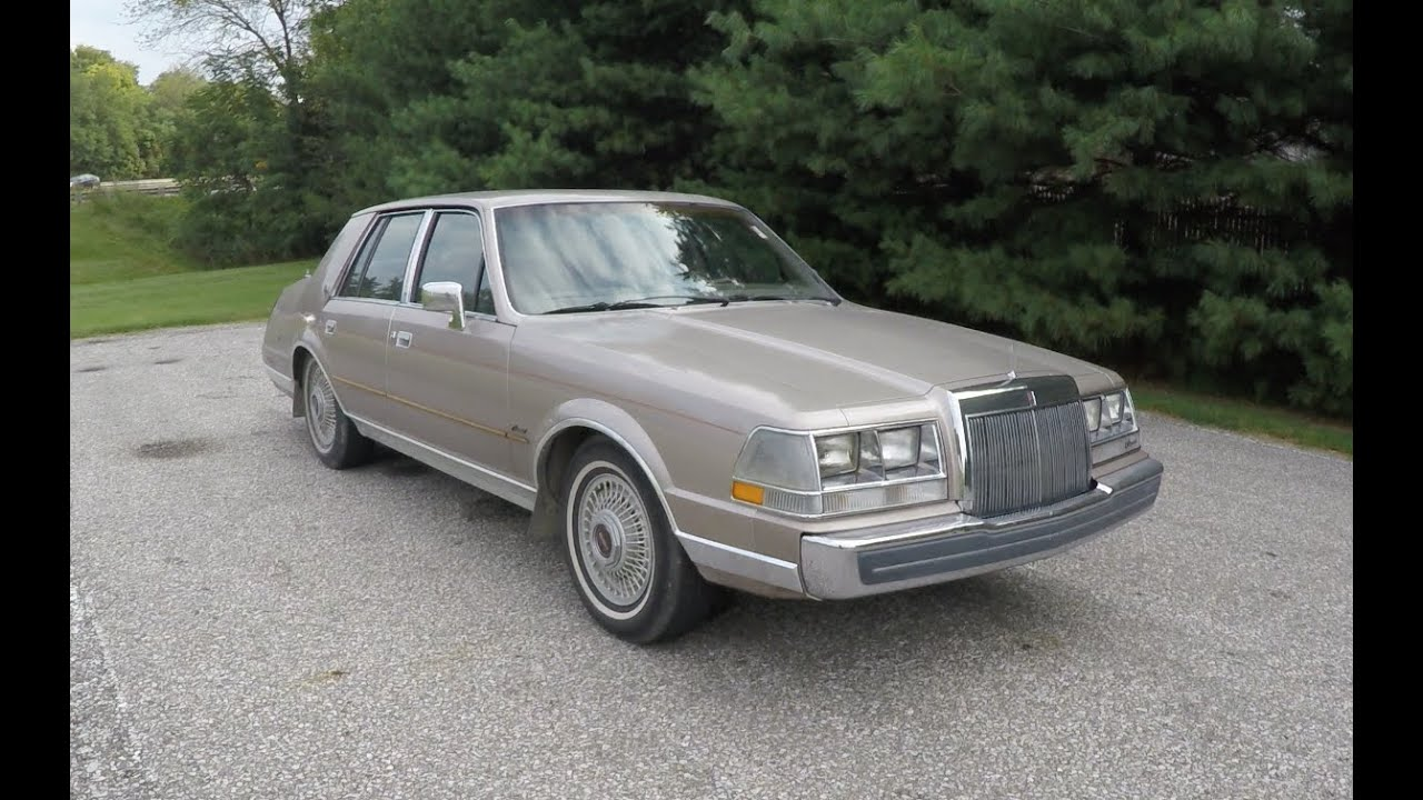 1986 Lincoln Continental|B0237D - YouTube