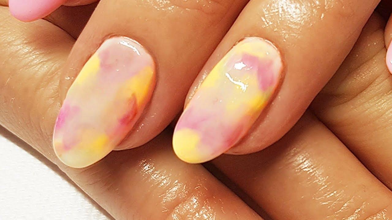 Pastelowe Paznokcie Hybrydowe Na Lato Tie Dye Nail Art