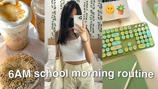 6AM PRODUCTIVE online school morning routine/vlog *high school*