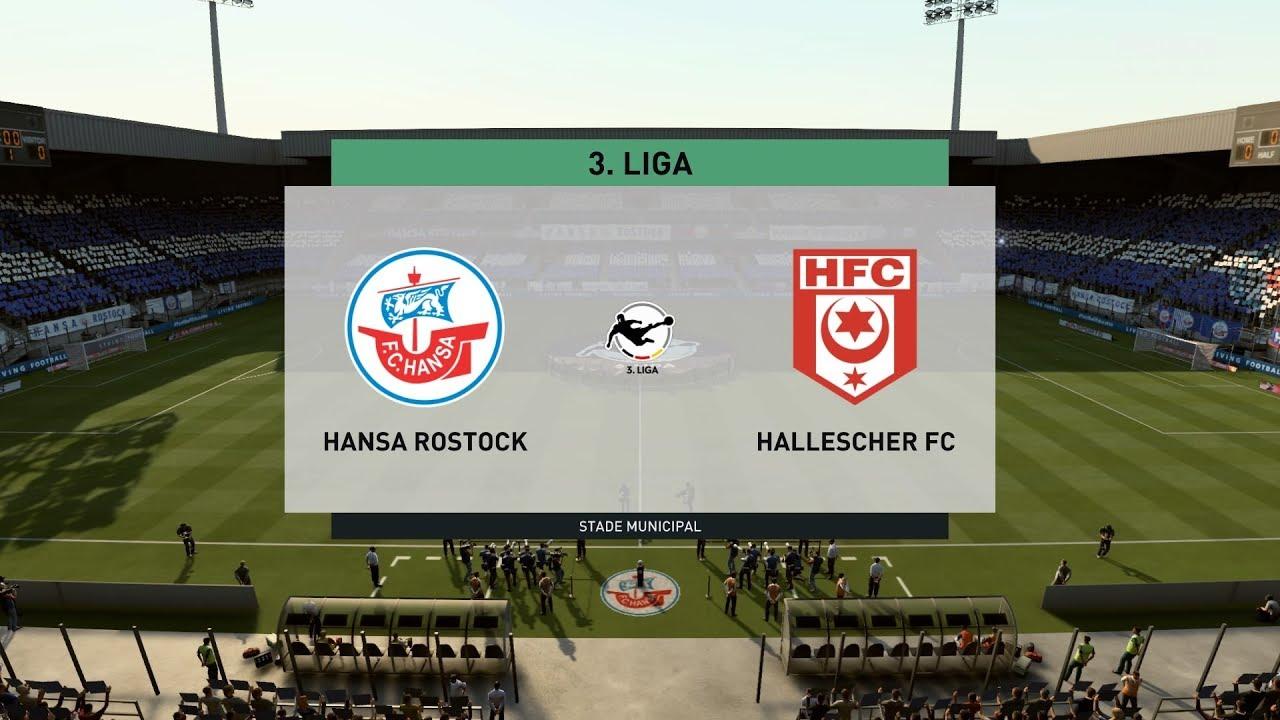Fifa 20 Hansa Rostock Vs Hallescher Fc 3 Liga 24 01 2020 1080p 60fps Youtube