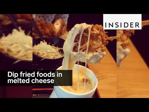 This restaurant lets you dip fried foods in melted cheese