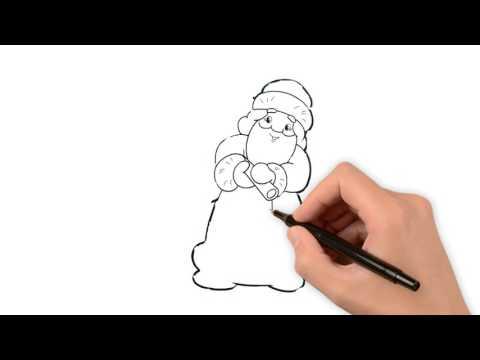Как нарисовать Деда Мороза дед мороз нарисованный
