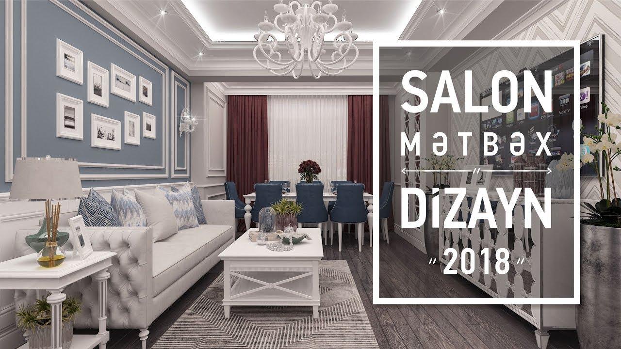 Salon Qonaq Otagi Mətbəx Xoll Dizayn Mebel Youtube