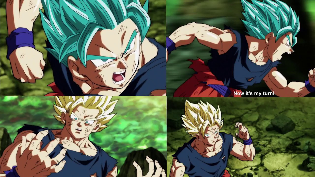 goku went super saiyan blue 2 in db super ep 122 youtube