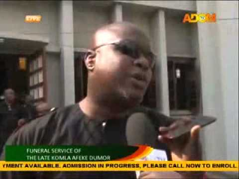 AFRICAN YOUTH CHOIR PAYS AND FRIENDS TRIBUTE TO KOMLA DUMOR ON ADOM V (21-2-14)