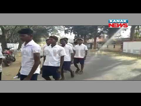 20 Students Walk For 20 Km To Complain Against Irregularity In School In Mayurbhanj