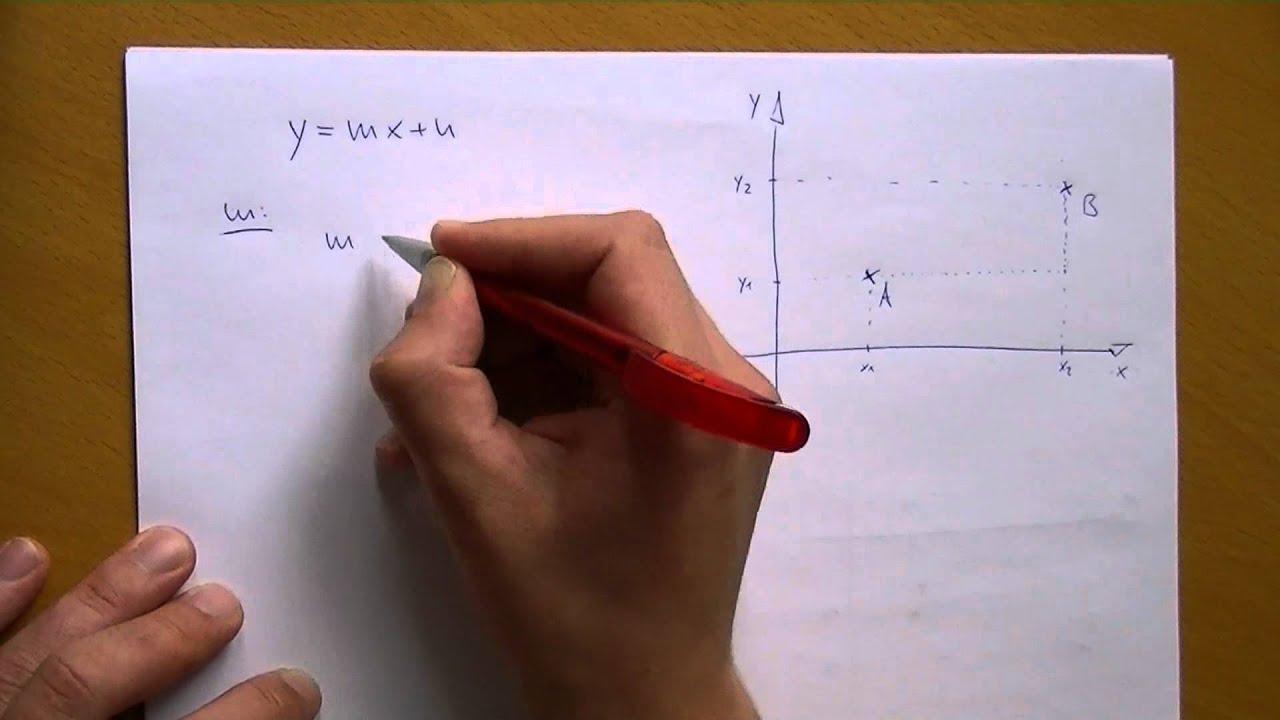 Geraden - Gleichung mit zwei Punkten aufstellen - YouTube