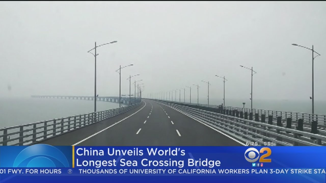 China Unveils World's Longest Sea Bridge
