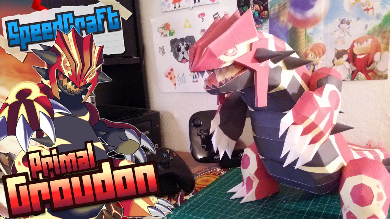 Papercraft Pokemon Papercraft ~ Primal Groudon~
