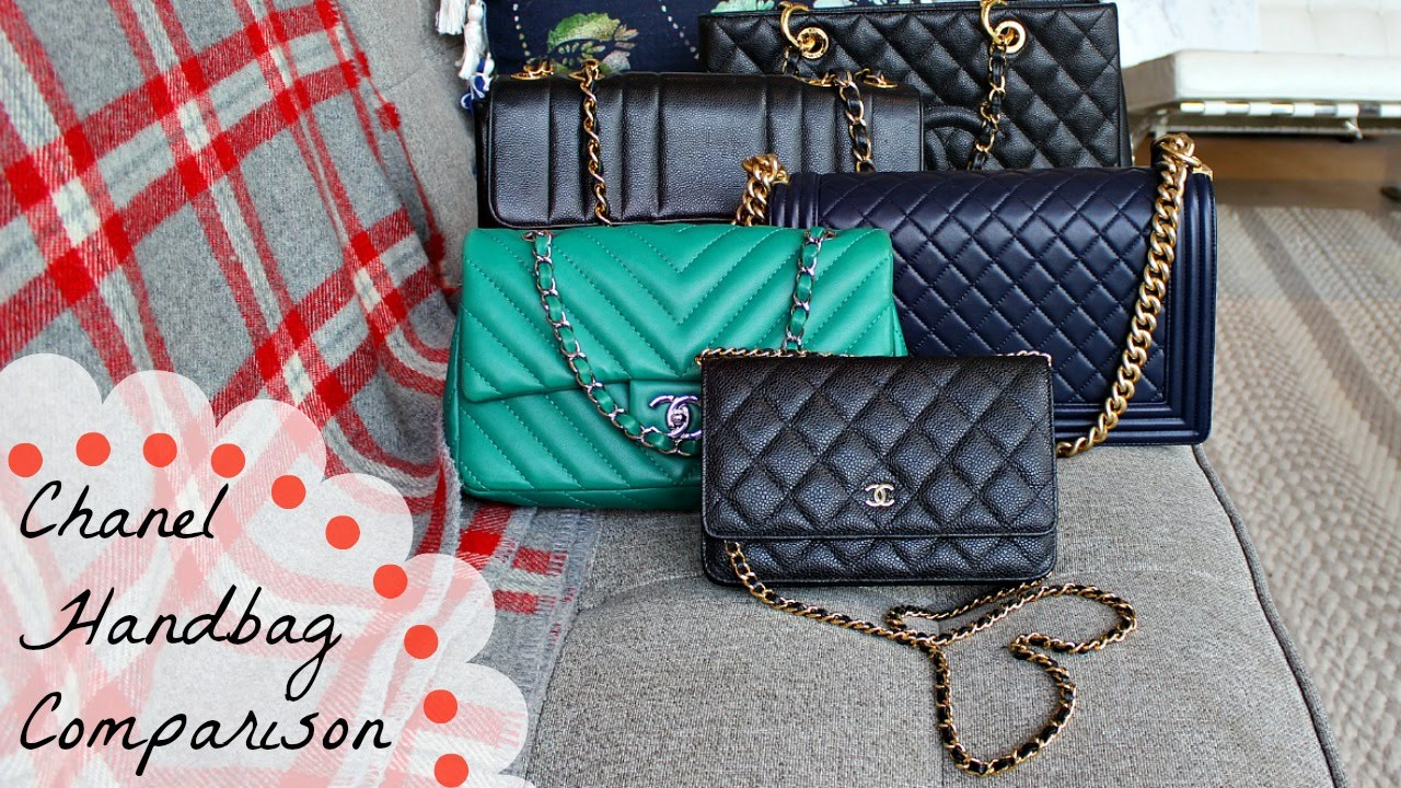 af5d81a2e95b Chanel Handbag Comparison | WOC v Classic Flap v Boy v GST - YouTube