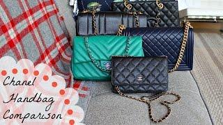 Chanel Handbag Comparison   WOC v Classic Flap v Boy v GST