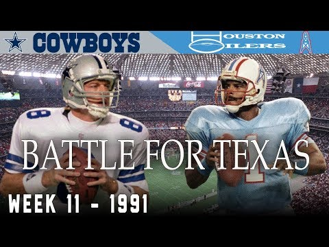 The Battle For Texas! (Cowboys Vs. Oilers, 1991) | NFL Vault Highlights