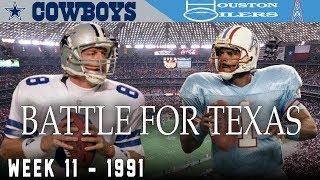 The Battle for Texas! (Cowboys vs. Oilers, 1991)   NFL Vault Highlights