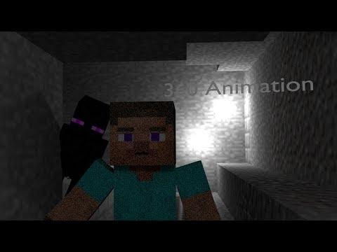 Enderman Attack Steve & Alex - Minecraft Horror Animation 360°