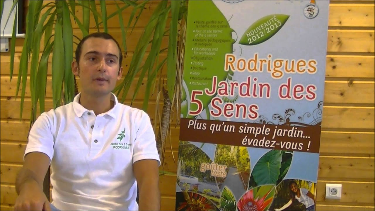 Rodrigues jardin des 5 sens interview julien schmidt youtube for Jardin 5 sens