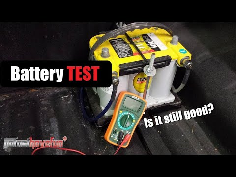 Battery Test with a Multimeter