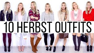 10 HERBST OUTFITS IN 2 MINUTEN - MEIN STYLE 2017 - TheBeauty2go
