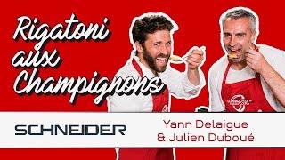 Rigatoni aux champignons avec Yann Delaigue - Les recettes du TOP 14