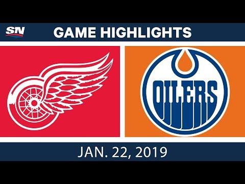 NHL Highlights | Red Wings vs. Oilers - Jan. 22, 2019