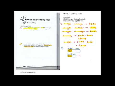 MIF Workbook 5B Solutions Chapter 9 Multuplying and Dividing