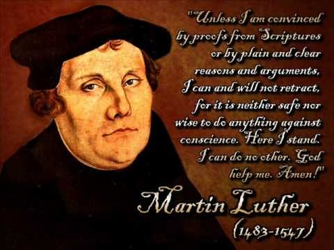 """A Mighty Fortress is Our God"" - Martin Luther"