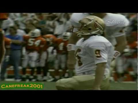 1992 Miami Hurricanes vs Florida State Highlights