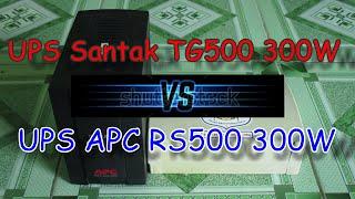 so snh ups tg500 300w tự ngắt vs ups apc rs500 300w ko ngắt