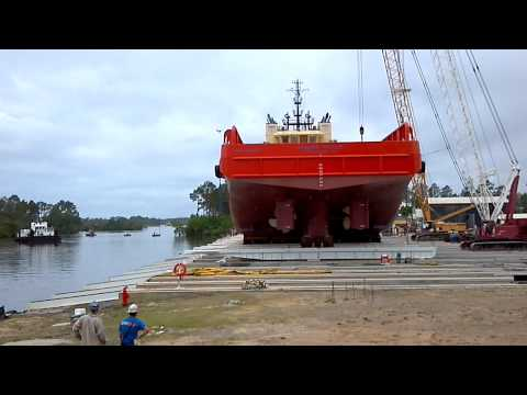 Gulf ship in gulfport mississippi launching boat