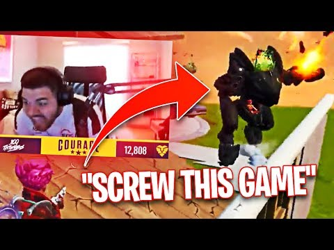 COURAGE RAGE QUITS FORTNITE LIVE ON STREAM! (Fortnite: Battle Royale)