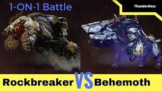 Horizon Zero Dawn - Rockbreaker VS Behemoth (Horizon Fight Club #10)