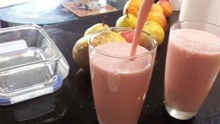 Shake #3 - Strawberry Watermelon Banana Milkshake (365 Days Of Guilt-free Shakes !!)