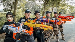 LTT Nerf War : Squad SEAL X Warriors Nerf Guns Fight Criminal Group Dr.Lee Crazy The Expendables