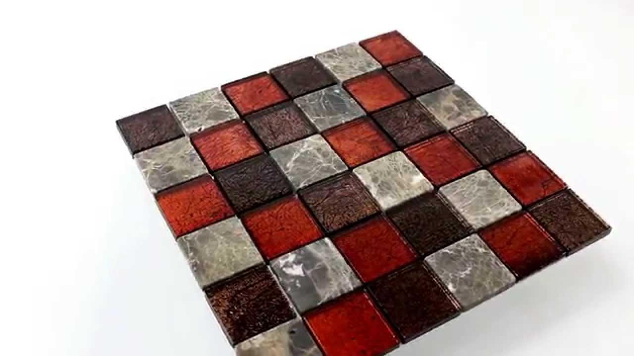Wohnraum Mosaik Fliesen Aus Naturstein Glas Braun Rot Braun Youtube