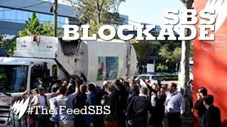 Garbage trucks blockade SBS for 'Struggle Street